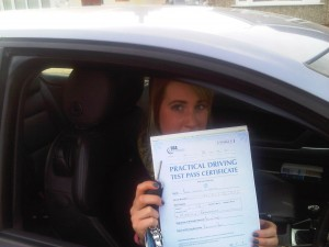 Tamzin with cert