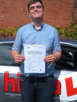 Jasper Straughan with certificate