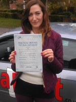 Lucy Pascoe with pass cert