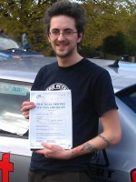 Stuart Miller with certificate